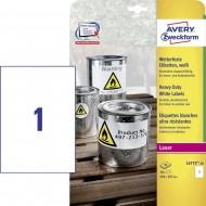 Etikete za označevanje, vodoodporne 210 x 297 mm 1/20