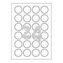 Etikete za označevanje, prozorne Ø 40 mm - L7780-25