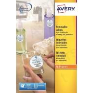 Etikete za označevanje, ovalne 63,5 x 42,3 mm - L6024REV-25