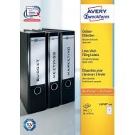 Etikete za ozke registratorje 192 x 38 mm 1/100