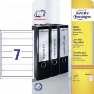 Etikete za ozke registratorje 192 x 38 mm 1/25