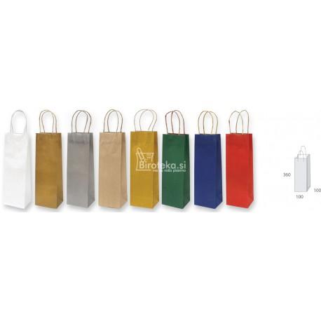 Enobarvna EKO vrečka za steklenico