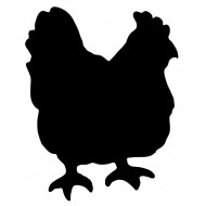 Tabla črna kredna FBCHICKEN
