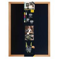 Črna kredna tabla teak 60 x 80 cm