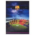 Zvezek s špiralo A5 mali karo, trde platnice, FC Barcelona