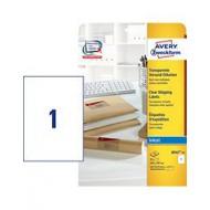Transparentne etikete za pakete, za inkjet tiskalnike 210 x 297 mm