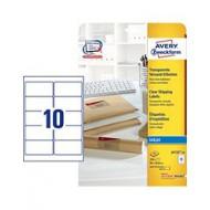 Transparentne etikete za C4 ovojnice, za inkjet tiskalnike 96 x 50,8 mm