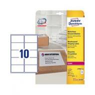 Etikete za B4/C4 ovojnice, odporne proti vremenu 99,1 x 57 mm