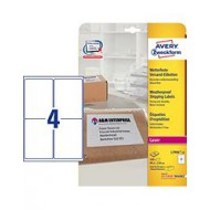 Etikete za pakete, odporne proti vremenu 99,1 x 139 mm