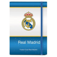 Zvezek z elastiko črtan Real Madrid A5