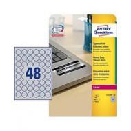 Etikete za označevanje, srebrne fi 30 mm - L6129-20