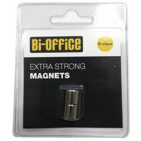 Bi-Office Magneti za steklene table, 2 kos fi 10mm