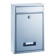 ALCO Poštni nabiralnik 8602, kovinski, srebrn
