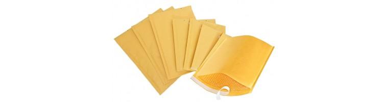 Oblazinjene kuverte rjave